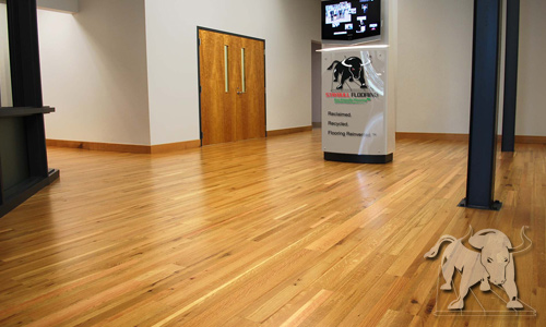 Green Flooring made of Oak