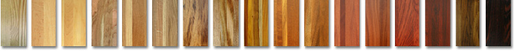Many different colors of hardwood flooring